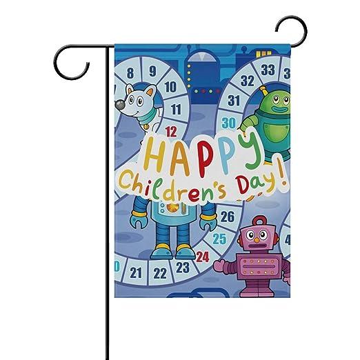 Buyxbn Bandera de jardín Feliz día de los niños Mesa Juego de Mesa ...