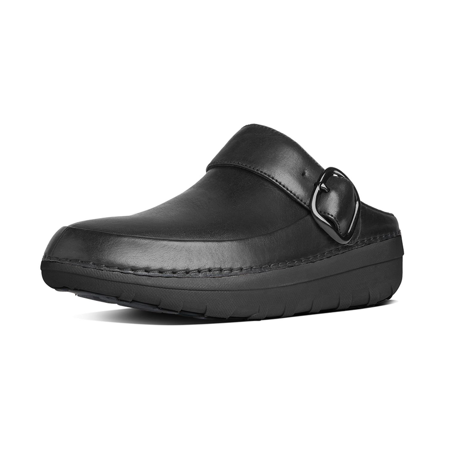FitFlop Women's Gogh Pro Superlight Leather Clogs Black 10 & Sunscreen by FitFlop
