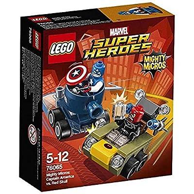 Lego Micro:Capt America/R Size Ea Lego Mighty Micro:Captain America Vs Red S 76065: Toys & Games