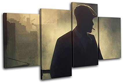 ready to hang Quality canvas wall art PEAKY BLINDERS Birmingham Gangsters