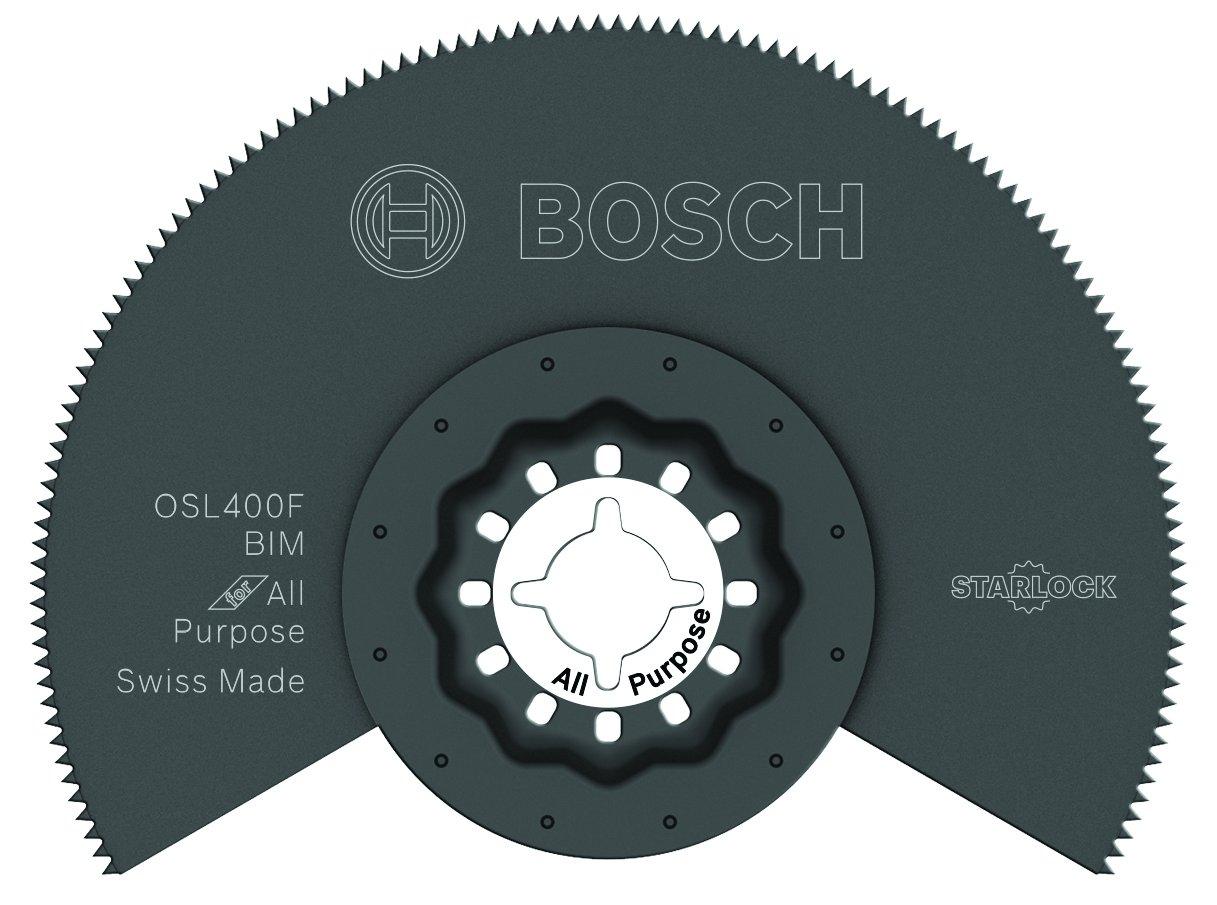 "BOSCH OSL400F Starlock Oscillating Multi Tool Bi-Metal Segmented Saw Blade, 4\"""