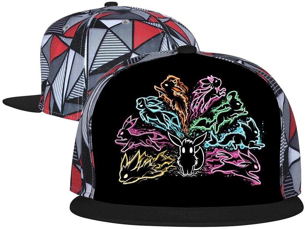 NJLLOS Hip-Hop Baseball Cap Pock-et-Eevee Full Print Trucker Cap Cool Dad Hat