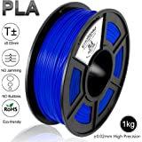 Enotepad Filamento PLA,Impresora 3D Filamento,Materiales de Impresión 3D de Filamento,PLA 1.75mm,Precisión Dimensional +/- 0.02 mm Filamento for Pluma 3D/Impresora 3D,1 KG(2.2LBs)/Carrete,Azul PLA