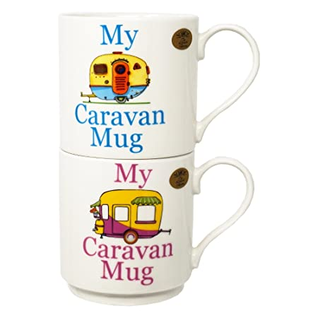 Set 2 tazas apilables – Mi caravana taza (azul y rosa)