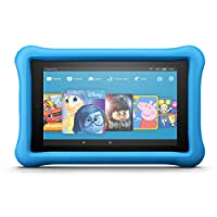 """Fire HD 8 Kids Edition Tablet, 8"""" Display, 32 GB, Blue Kid-Proof Case (Previous Generation - 7th)"""