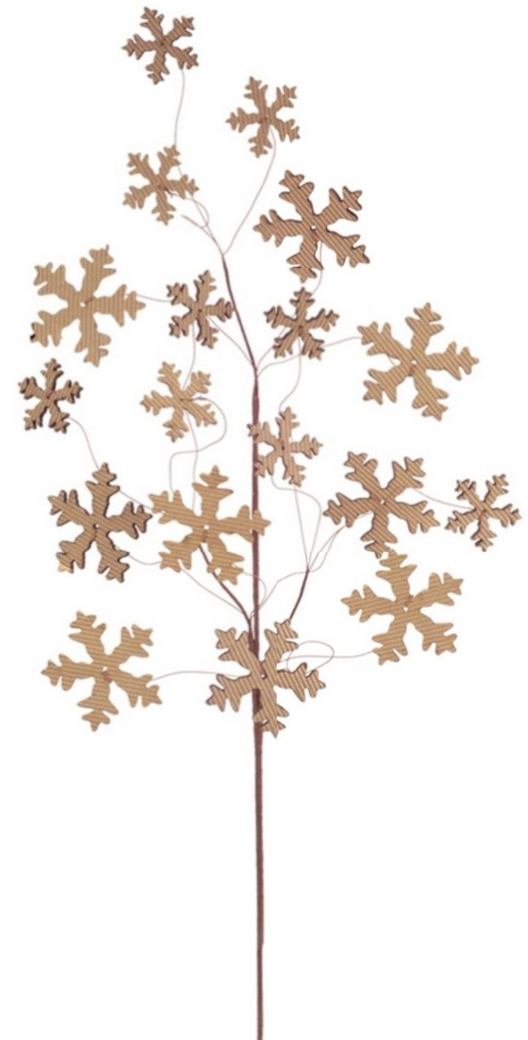 Melrose 28'' Country Cabin Brown Cardboard Cut-Out Snowflake Decorative Christmas Spray