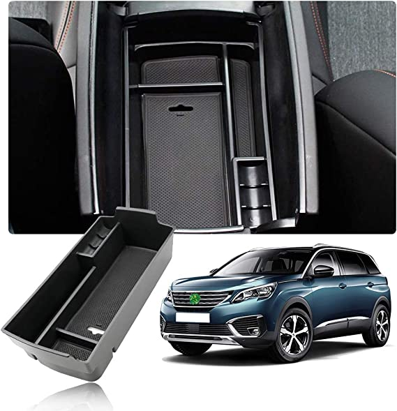 Yee Pin Centre Console 3008 5008 Ds 7 Crossback Glove Box For Armrest Organiser Storage Box With Non Slip Mat Car Accessories Auto
