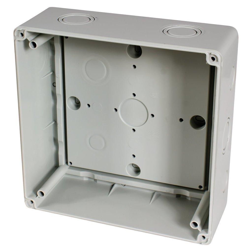 180x180x91mm f-tronic Feuchtraum-Abzweigkasten IP65 FK410 grau