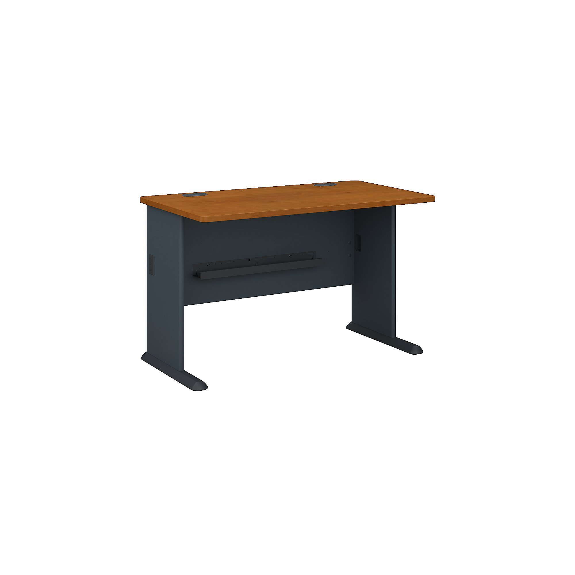 Bush Business Furniture Series A 48W Desk in Natural Cherry and Slate by Bush Business Furniture