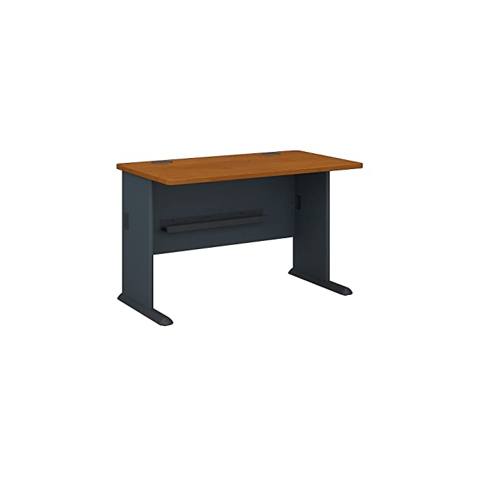 Bush Business Furniture Series A 48W Desk in Natural Cherry and Slate