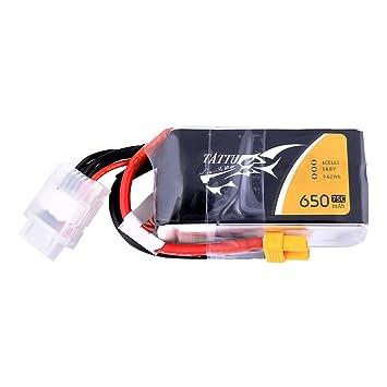 Tattu 650 mAh 4S1P 75 C 14.8 V Lipo batería Pack con XT30 Conector ...