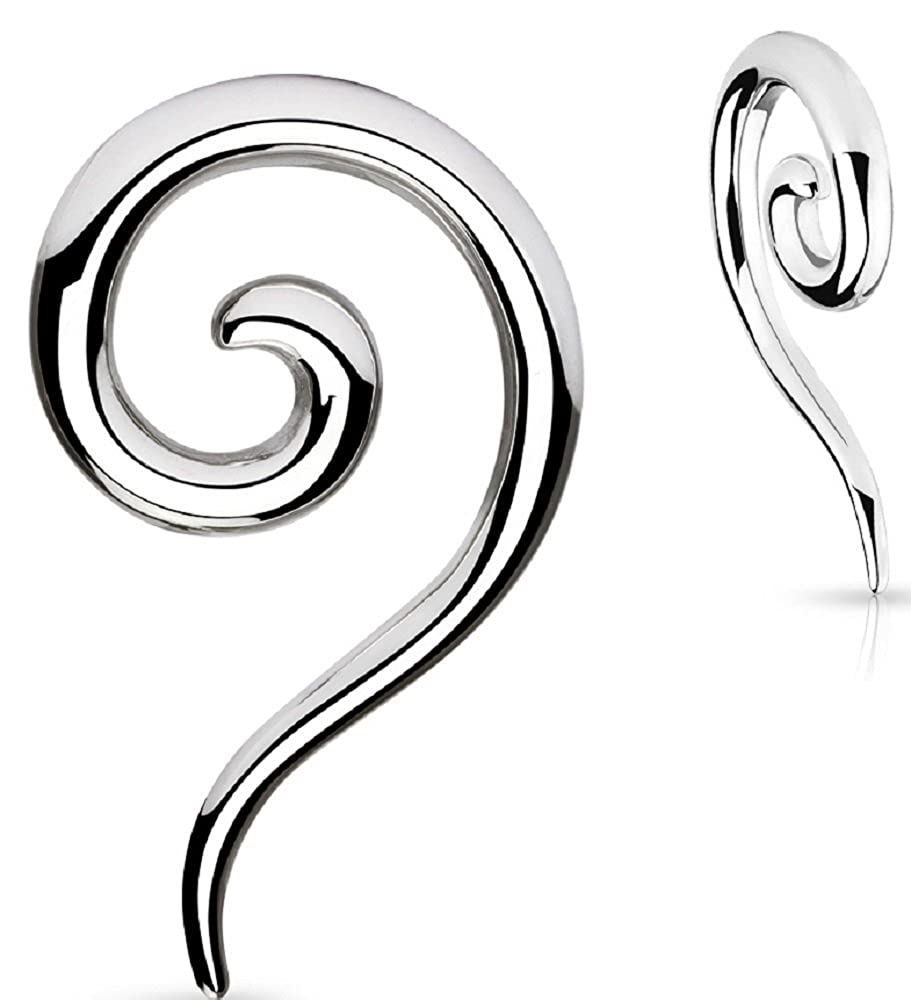 Earrings Rings 316L Surgical Steel Swirl Twist Tapers - Sold as a pair 4G Body Accentz