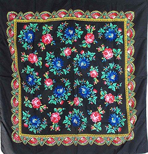 Madame Dutilleul - Foulard femme Fleurs noir
