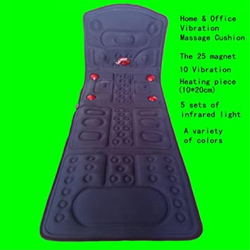 AMYMGLL Masaje Colchón 10 Grupo Vibrador Infrarrojo lámpara cuello hombro cintura espalda calefacción vibración cuerpo Masaje estera Timing handheld ...