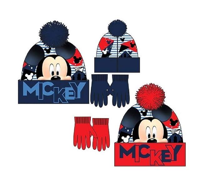 Disney Mickey Mouse Set de Gorro y Guantes - RH4480 para niño  Amazon.es   Ropa y accesorios ace7eeb8c7e