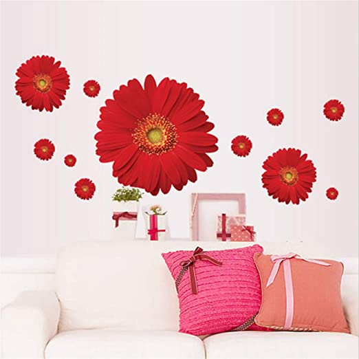 Dais Flower 3D Removable Wall Stickers For Window Bedroom Kitchen Home Decor
