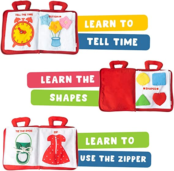 Teachers learning aid for todders Home school learning QB160 Counting To Ten Quiet Book Page