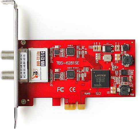 Amazon Com Tbs 6281se Dvb T2 T C Tv Dual Terrestrial Hd Low Profile Pcie Tv Tuner Card Computers Accessories