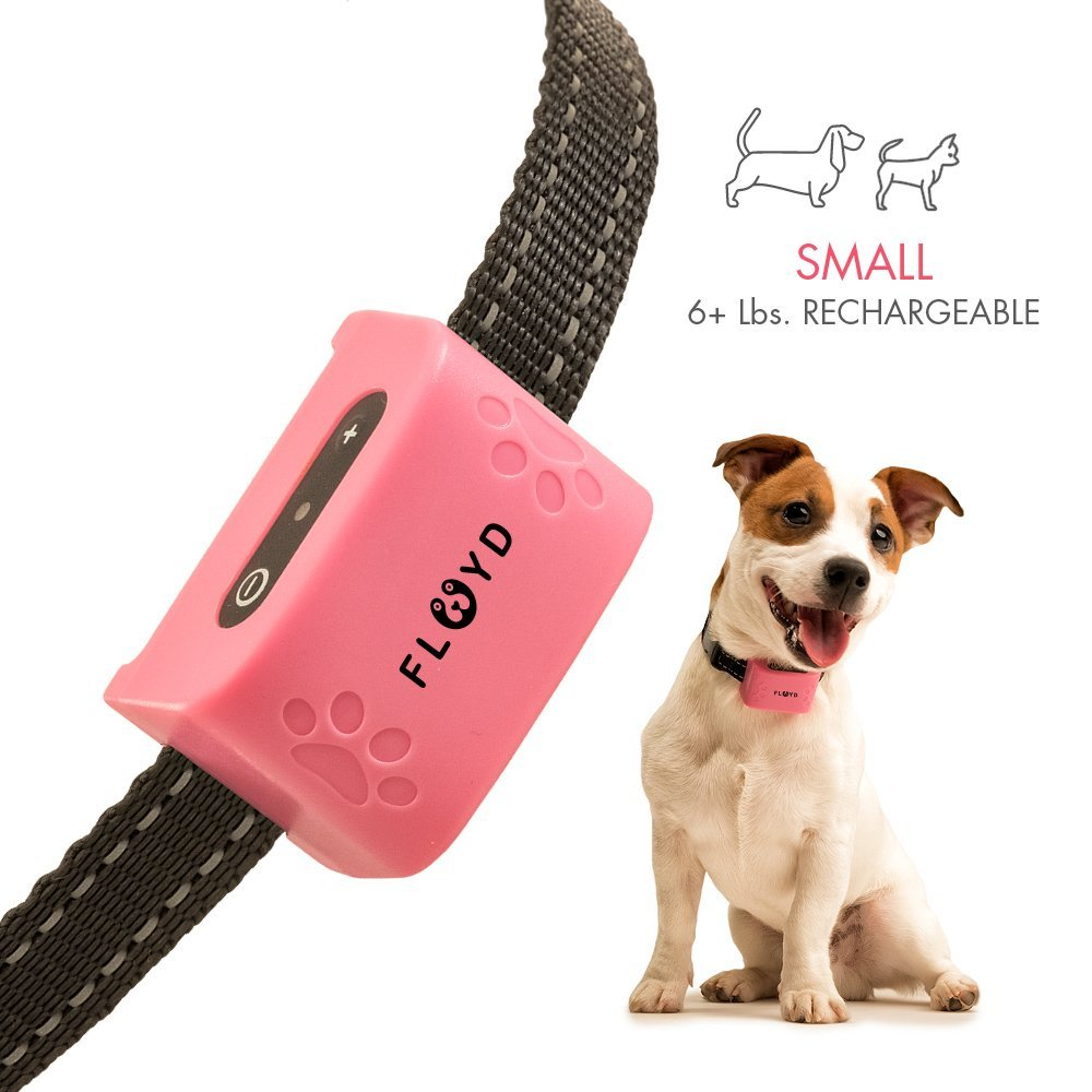 Small Dog Bark Collar For Tiny To Medium Dogs (6+ lbs). Rechargeable And Waterproof Anti Bark Training Device. Humane Way to Stop Barking - No Shock No Spiky Prongs! (Pink)