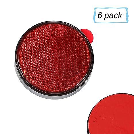 R/ückstrahler 60mm selbstklebend rot