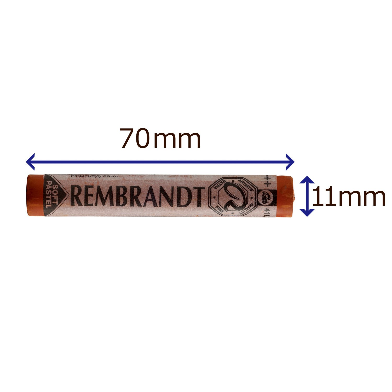Rembrandt soft pastel Burnt Sienna TR411.7 Talens
