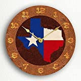MYTIME- Texas State Flag Traditional Style Silent Wall Clock 12 inch