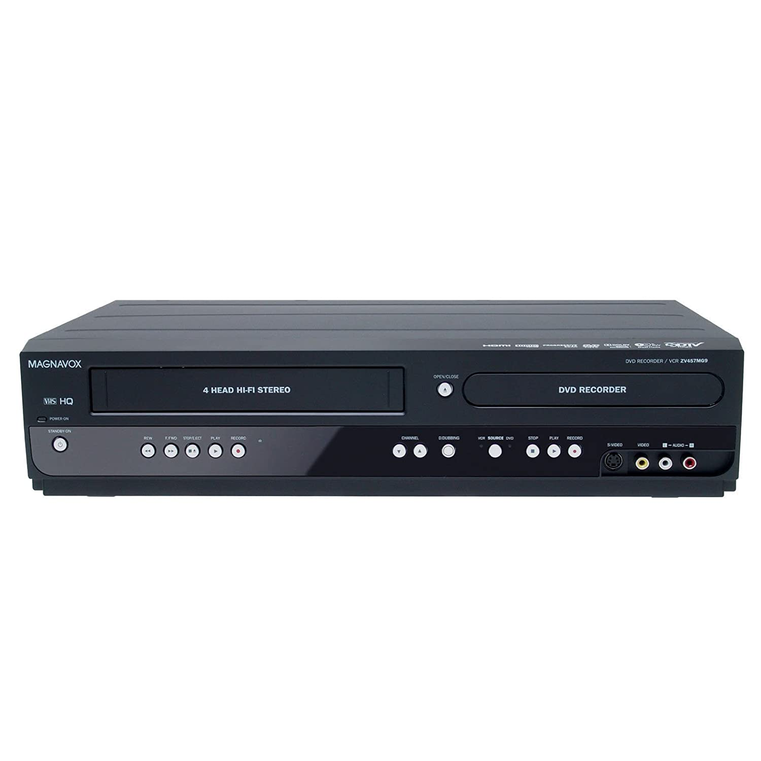 amazon com magnavox zv457mg9 dual deck dvd vcr recorder electronics rh amazon com Samsung DVD VHS Combo Recorder magnavox dvd vcr player mwd2205 manual