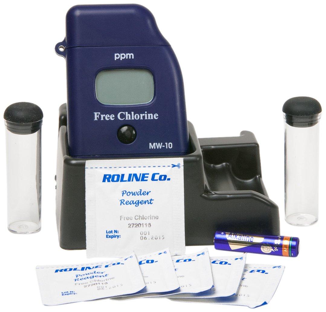 0.01 ppm Resolution 0.00-2.50 ppm Milwaukee MW10 Free Chlorine Mini-Colorimeter LCD Display