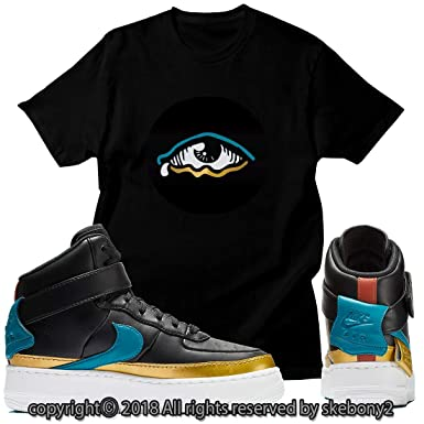 best service 35b4d c6688 Custom T Shirt Matching Style of Nike Air Force 1 Jester XX NAF 1-1