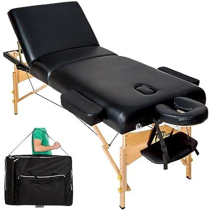 TecTake Premium - Camilla de masaje (acolchado de 10 cm, reposacabezas de aluminio)