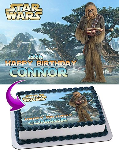 Wookiee chewbacca Star Wars Edible Cake Topper Personalized