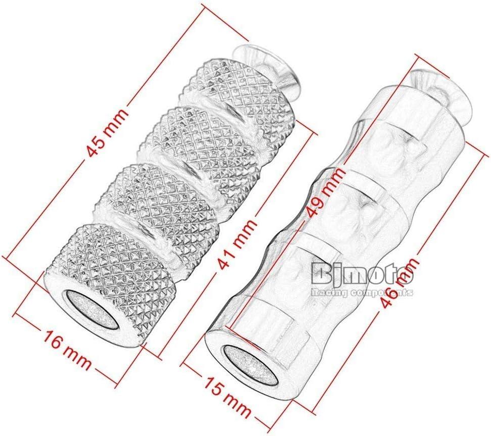 Couleur : Black CNC M6 for moto Repose-pieds Repose-pieds Repose-pieds arri/ère Peg p/édales Set for Yamaha MT07 MT09 FZ07 FZ09 R3 R25 R1 R6