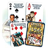 Flickback 1966 Trivia Playing Cards: 51st Birthday or 51st Anniversary Gift