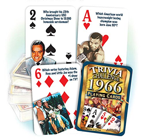 Flickback 1966 Trivia Playing Cards: 52nd Birthday or 52nd Anniversary Gift by Flickback Media, Inc.