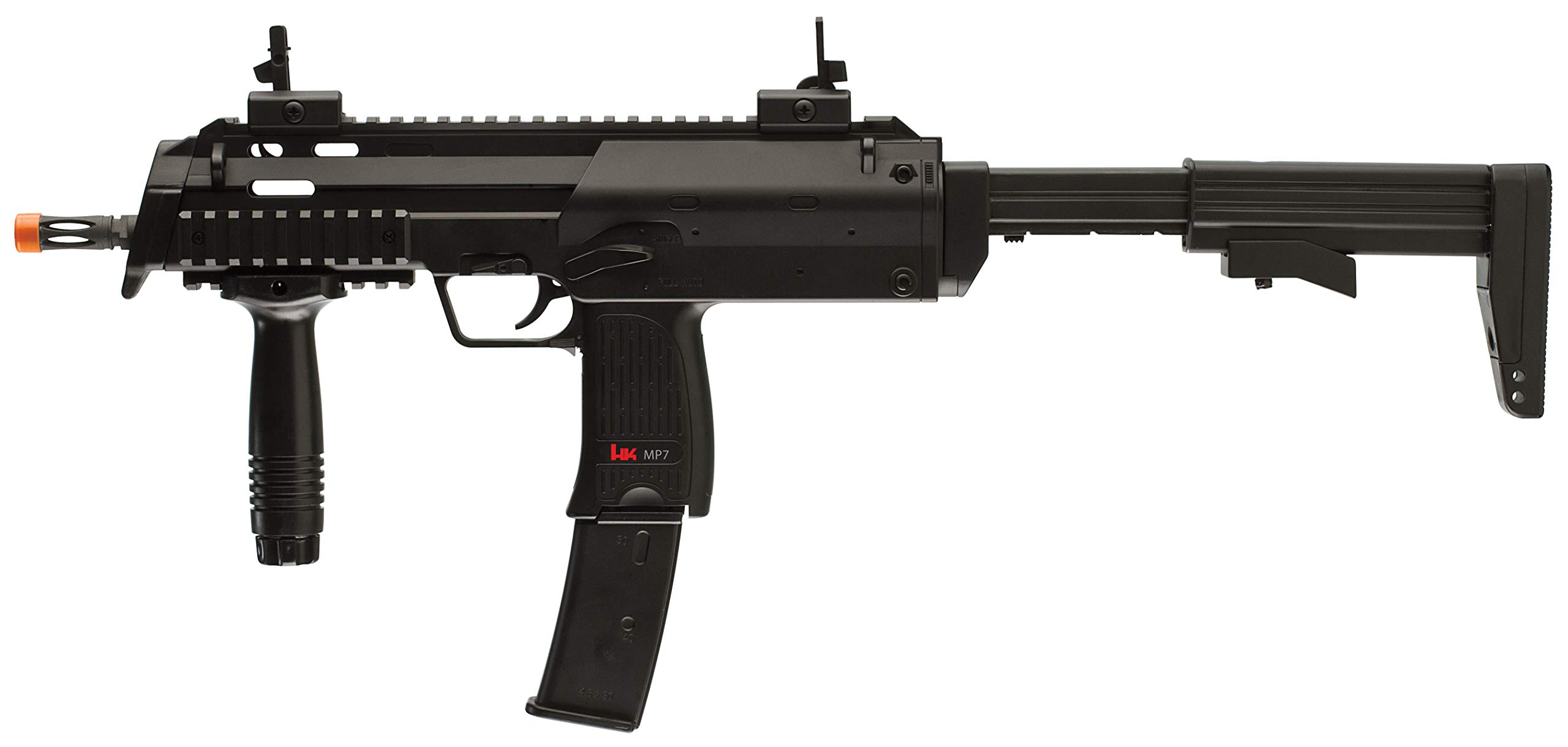 HK Heckler & Koch MP7 AEG Automatic 6mm BB Rifle Airsoft Gun, Black by Elite Force