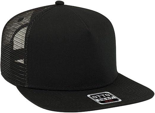 "OTTO Foam Front Flat Visor /""OTTO SNAP/"" 5 Panel Mesh Back Trucker Snapback Hat"