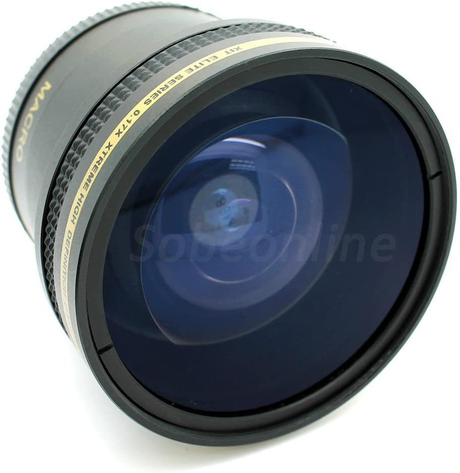 0.17x Hi Def Super Fisheye Lens with Macro for Sony Alpha ILCE-3000 A3000 49mm Compatible