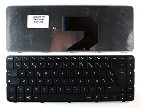 Keyboards4Laptops French Layout Replacement Laptop Keyboard Black for HP Pavilion G6-1140sg, HP Pavilion