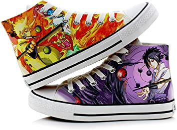 Telacos Naruto Uzumaki Naruto Hatake Kakashi Zapatillas de Cosplay Zapatos de Lona Zapatillas
