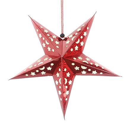 Stella Di Carta Natale.Pretyzoom Stella Di Natale Appendere Decorazioni Di Carta Lanterna