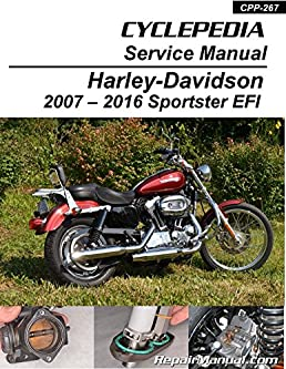 cpp 267 p harley davidson xl883 xl1200 sportster efi cyclepedia rh amazon com