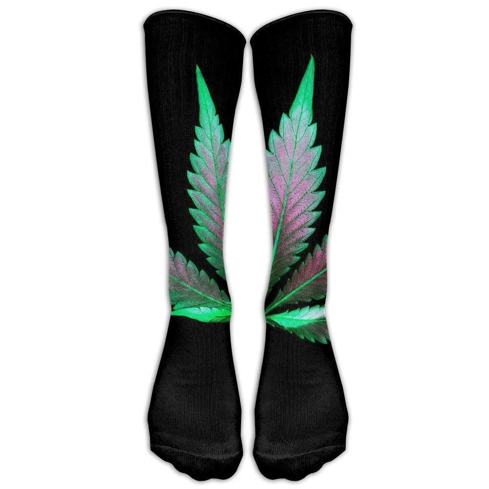 Doormat-bag Perfect Gifts - Green Cannabis Weed Leaves Painting Black Print Stockings Breathable Trekking Socks Classics Socks For Women Teens Girls Unisex