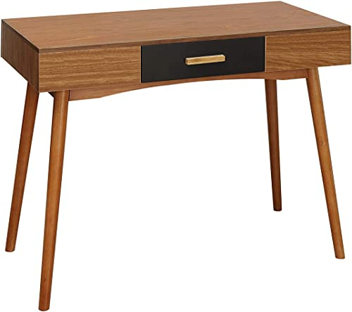 Convenience Concepts Oslo 1-Drawer Desk, Cherry