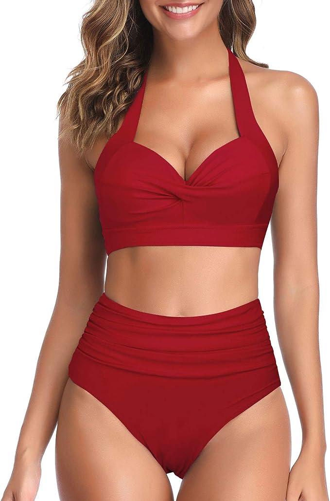 Plus-Size-Bikini mit High-Waist-Höschen