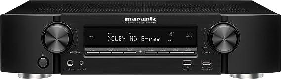 Marantz NR1510 UHD AV Receiver (2019 Model) – Slim 5.2 Channel Home Theater Amplifier