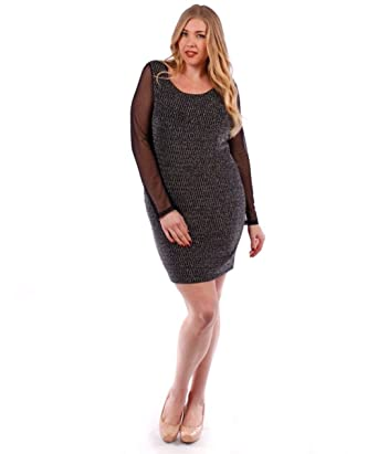 ba07d7ad334 Toto Women s Junior s Plus Size Holiday club Sexy Lace Dress Black ...