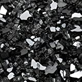 Margo Garden Products 1/4 in. 25 lb. Black Reflective Tempered Fire Glass
