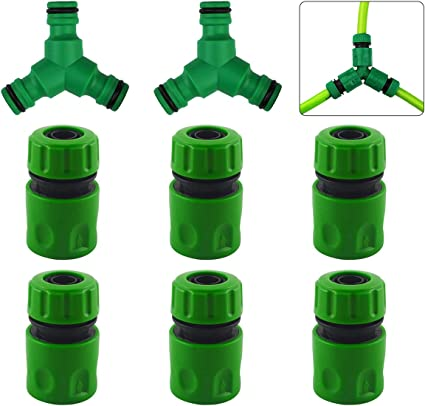 2pcs 1//2/'/'  Garden Water Hose Connector Pipe Quick Connectors Joining Adapter UK