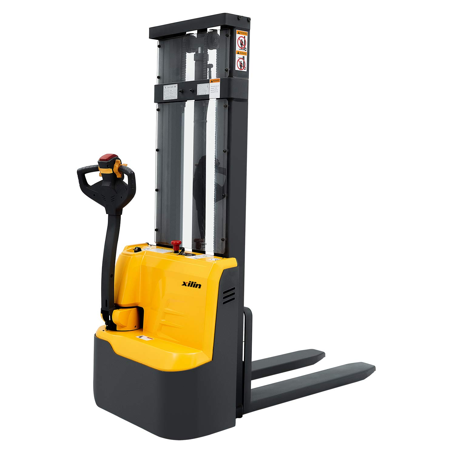 Xilin Full Electric Powered Walkie Stacker Material Lift 118 Lifting Height 2200lbs Capacity Mini Type