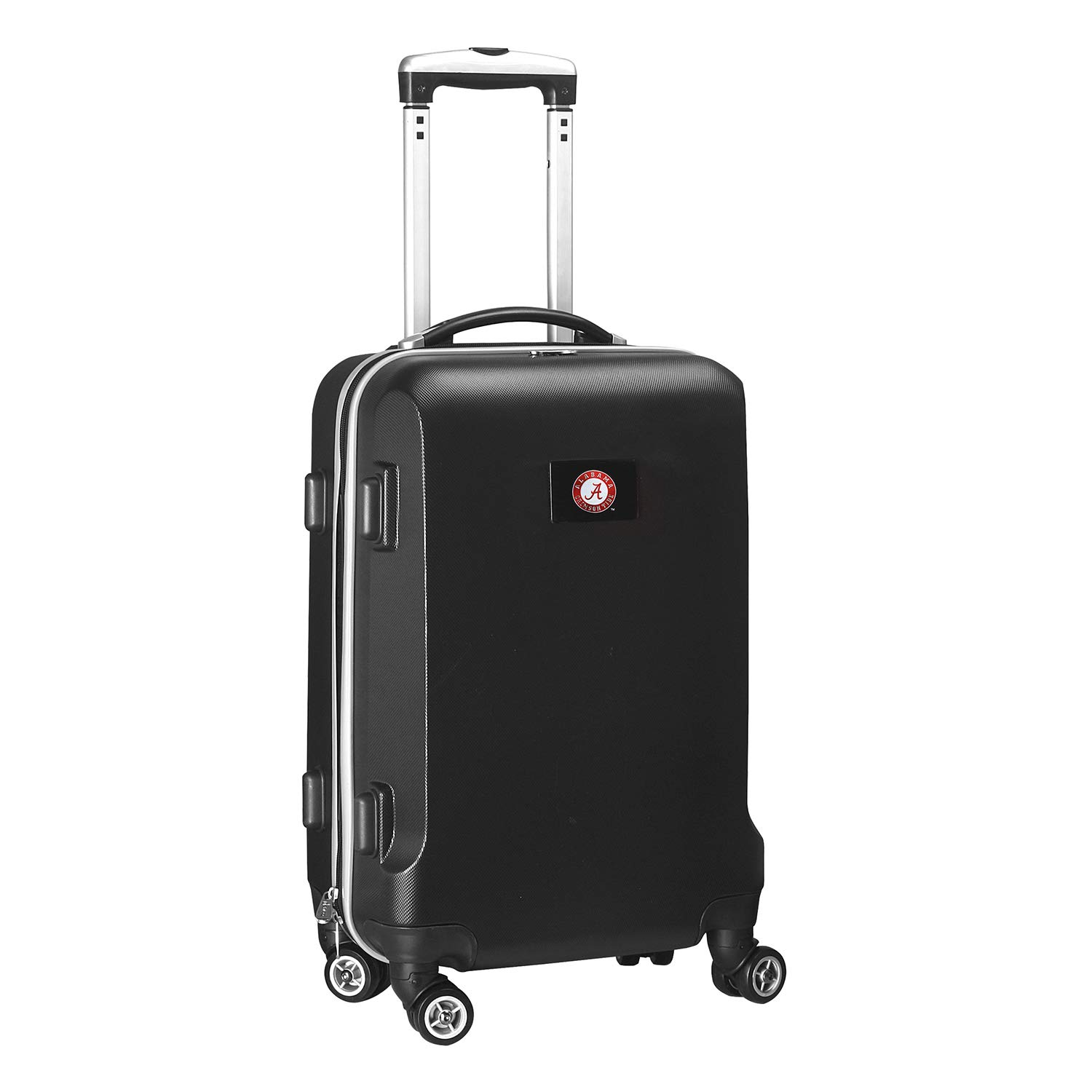 Denco NCAA Alabama Crimson Tide Carry-On Hardcase Luggage Spinner, Black